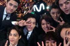 EXO members at MAMA 2014