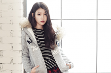 IU and Lee Hyun Woo Union Bay Fall Winter 2015 photos