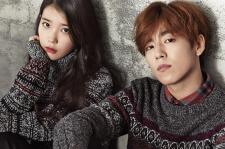 IU and Lee Hyun Woo Union Bay Fall Winter 2015 photos