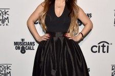 Becky G at the Musicians On Call Rock The Room Tour Hits Los Angeles.