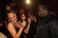 Jennifer Lopez and P Diddy at the Jennifer Lopez's 2015 American Music Awards after party.