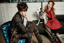 Han Ye Seul and Sung Joon cosmopolitan magazine december 2015 photos fashion