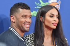 Russell Wilson and Ciara at the Nickelodeon Kids' Choice Sports Awards 2015.