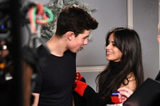 Shawn Mendes and Camila Cabello at the 102.7 KIIS FM's Jingle Ball - Backstage.