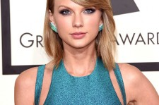 Taylor Swift at the 57th Grammy Awards.