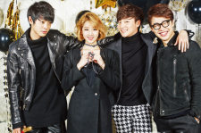 Roy Kim, Jung Joon Young, Hong Dae Kwang and Park Bo Ram InStyle Magazine December 2015 photos