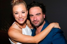 Kaley Cuoco and Johnny Galecki at the Fallout 4 launch.
