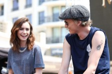 Lily Collins and Jamie Campbell Bower in 2013.