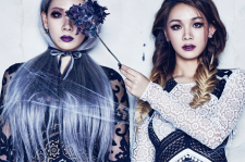 2NE1 CL sister Harin W Korea Magazine January 2016 photos