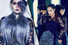 2NE1 CL sister Harin W Korea Magazine January 2016 Yuri Elle December 2015 photos