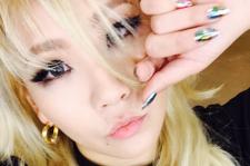 CL glitter nails