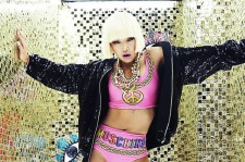 Korean rap star Cheetah, seen here trapped in a maze of gold.