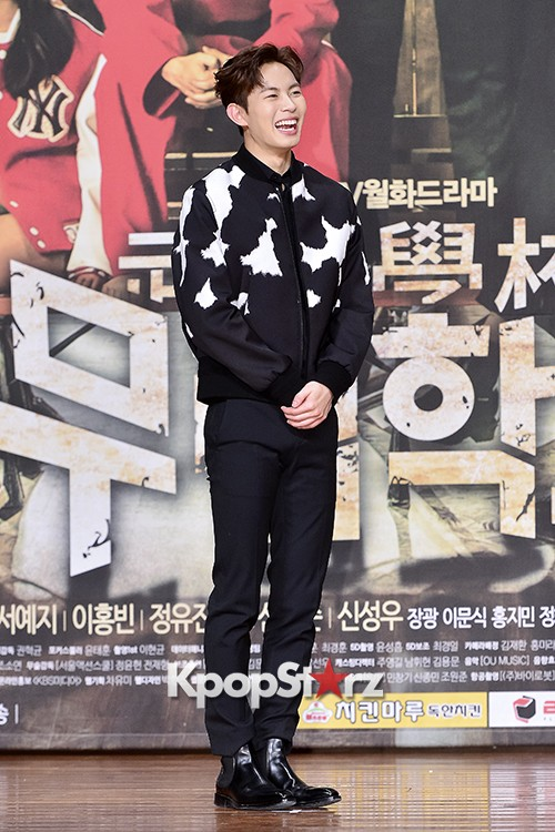 VIXX's Hong Bin Attends a Press Conference of Upcoming Movie 'Moorim School' key=>9 count28