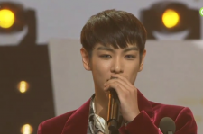 Big Bang's T.O.P onstage at the 2016 Golden Disk Awards