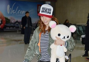 Airport Fashion: KARA Returns to Korea from Japan
