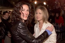 Julia Roberts and Jennifer Aniston at the premiere of 'The Mexican' at the National Theater in Los Angeles, Ca. 2/23/01.