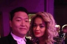 Psy Reveals Picture Taken with Singer Rita Ora