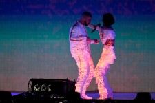 EBRUARY 24: Rihanna and Drake perform on stage at the BRIT Awards 2016 at The O2 Arena on February 24, 2016 in London, England. (