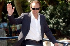 Actor Nicolas Cage leaves the Palazzo del Cinema by a water taxi to present the film 'Matchstick Men' presented out of competition at the 60th Venice Film Festival September 2, 2003 in Venice, Italy. (