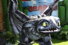 'Toothless' the Dragon attends the UK Gala Screening of 'How To Train Your Dragon 2' in 3D at Vue West End on June 22, 2014 in London, England