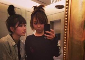 suzy bun hair with min