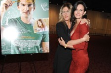 Actress Jennifer Aniston and director Courteney Cox attend the Los Angeles Special Screening of 'Just Before I Go' at ArcLight Hollywood on April 20, 2015 in Hollywood, California.
