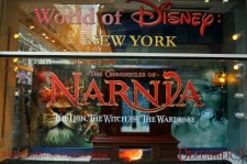 'The Chronicles Of Narnia' window display is seen at the Disney Store on November 19, 2005 in New York City