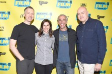 Supervising Sound Editor Matt Wood, Co-producer Michelle Rejwan, Scott Mantz and VFX Supervisor Roger Guyett attend a screening of Star Wars: The Force Awakens: A Cinematic Journey on March 14, 2016 in Austin, Texas.