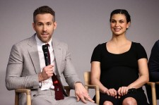 (L-R) Actors Ryan Reynolds and Morena Baccarin attend Apple Store Soho Presents Meet The Actor: Ryan Reynolds, Morena Baccarin, T.J. Miller, and Ed Skrein, 'Deadpool' at Apple Store Soho on February 9, 2016 in New York City.