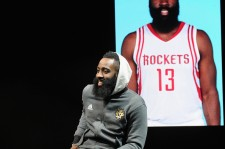 James Harden at the Samsung Experience during NBA All-Star 2016 on February 13, 2016 in Toronto, Canada.
