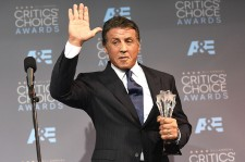 Actor Sylvester Stallone, winner of Best Supporting Actor for 'Creed', poses in the press room during the 21st Annual Critics' Choice Awards at Barker Hangar on January 17, 2016 in Santa Monica, California.