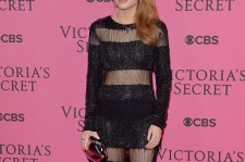Rosie Fortescue attends the pink carpet of the 2014 Victoria's Secret Fashion Show on December 2, 2014 in London, England