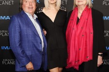 Richard Gelfond, Jennifer Lawrence and Toni Myers attend the New York premiere of 'A Beautiful Planet' at AMC Loews Lincoln Square on April 16, 2016 in New York City.