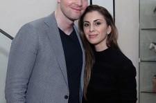 (L-R) Ryan Serhant and Emilia Bechrakis attend Arty Dozortsev Event At Paolo Zampolli & Amanda Ungaro Residence on April 5, 2016 in New York City.