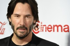 Actor Keanu Reeves, recipient of the Vanguard Award, attends the CinemaCon Big Screen Achievement Awards brought to you by the Coca-Cola Company at Omnia Nightclub at Caesars Palace during CinemaCon, the official convention of the National Association of