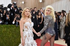 Kate Hudson (L) and Lady Gaga attend the 'Manus x Machina: Fashion In An Age Of Technology' Costume Institute Gala at Metropolitan Museum of Art on May 2, 2016 in New York City.