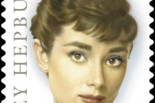 A new postage stamp honoring Hollywood legend and humanitarian, Audrey Hepburn.