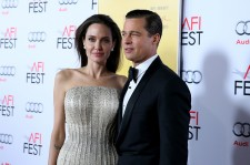 Writer-director-producer-actress Angelina Jolie Pitt (L) and actor-producer Brad Pitt attend Audi at the opening night gala premiere of 'By the Sea' during AFI FEST 2015 presented by Audi at TCL Chinese 6 Theatres on November 5, 2015 in Hollywood, Califor