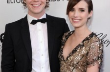 (L-R) Actors Evan Peters and Emma Roberts attend the 21st Annual Elton John AIDS Foundation Academy Awards Viewing Party at West Hollywood Park on February 24, 2013 in West Hollywood, California.