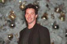 Actor Keanu Reeves Participates in the 15th Annual Lighting of the Downtown Los Angeles Official Christmas Tree November 30, 2000 in Los Angeles, CA