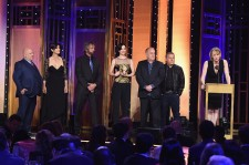 Melissa Rosenberg (R) and the cast of Jessica Jones speak onstage at The 75th Annual Peabody Awards Ceremony at Cipriani Wall Street on May 21, 2016 in New York City.