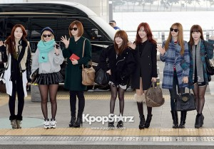 Airport Fashion: T-ara Leaving for Golden Disk Awards in Kuala Lumpur, Malaysia