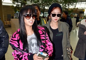 Airport Fashion: Sistar Leaving for Golden Disk Awards in Kuala Lumpur, Malaysia