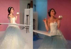 hyoyoung in wedding dress