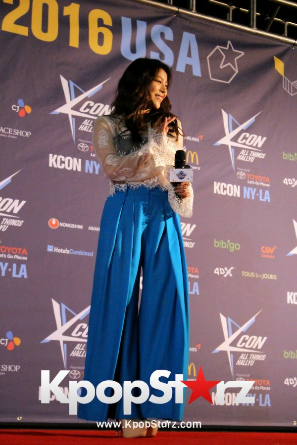 Ailee On KCON NY Red Carpet At The Prudential Center - June, 24 2016key=>8 count25