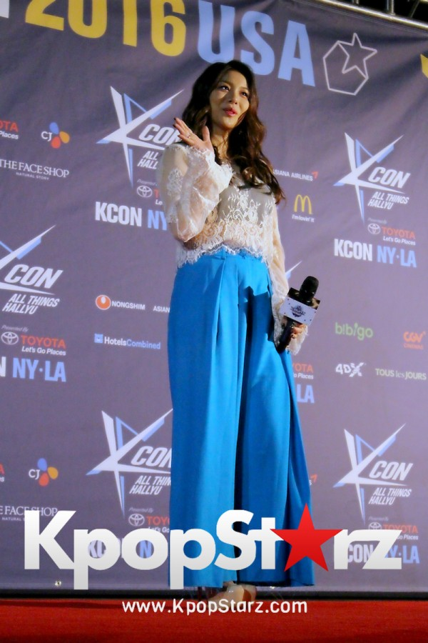 Ailee On KCON NY Red Carpet At The Prudential Center - June, 24 2016key=>10 count25