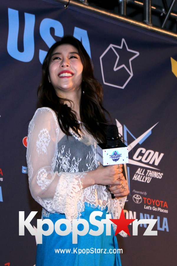 Ailee On KCON NY Red Carpet At The Prudential Center - June, 24 2016key=>20 count25