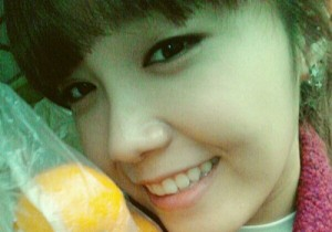 a-pink jung eunji picture with oranges