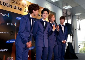 The 27th Samsung Galaxy Golden Disk Awards Press Conference: CNBlue