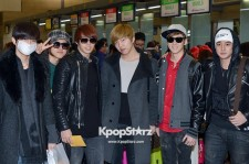 Airport Fashion: 'U-Kiss' Leaving for Golden Disk Awards in Kuala Lumpur, Malaysia